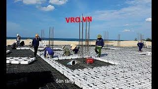Thi công Công nghệ xây dựng sàn nhịp lớn, sàn phẳng không dầm 3D PANEL VRO