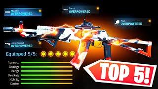 TOP 5 MOST OVERPOWERED GUNS IN MODERN WARFARE.. (BEST CLASS SETUP) COD MW Gameplay
