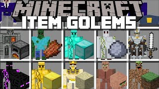 Minecraft ITEM GOLEM MOD / SPAWN ODD GOLEMS AND WATCH THEM PROTECT YOU TO SURVIVE!! Minecraft