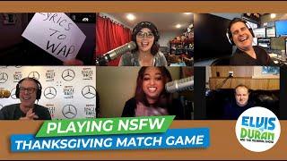 Elvis Duran Show Plays NSFW Thanksgiving Match Game | Elvis Duran Exclusive