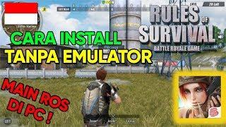 CARA MAIN RULES OF SURVIVAL DI PC TANPA EMULATOR !