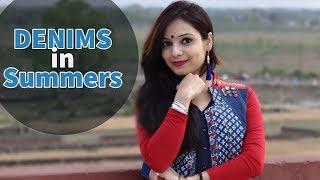 6 ways to style Denim in Summer | How to style denim jackets |  denim styling ideas | denim lookbook