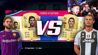 FIFA 19 MESSI VS RONALDO FUT DRAFT CHALLENGE