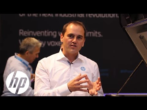 HP Jet Fusion 3D Printer demo at RAPID 2016