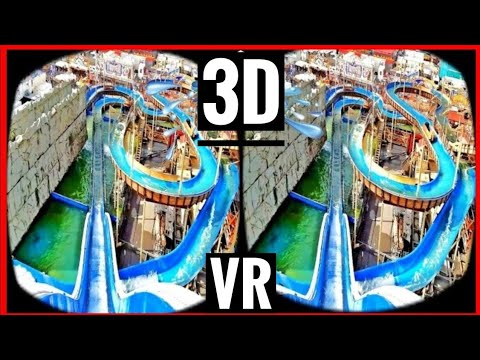 Roller Coaster VR 3D Water Slide Real Life 3D SBS VIDEO 4K in GERMANY - Samsung Galaxy S7 DUAL 4K 3D