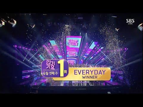 WINNER - 'EVERYDAY' 0415 SBS Inkigayo : NO.1 OF THE WEEK