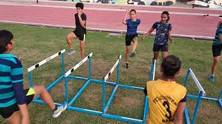 Hurdles drills for mobility and agility
