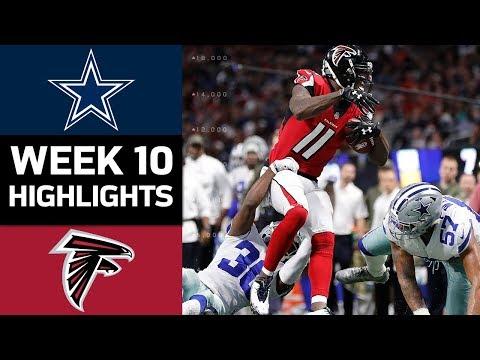 Cowboys vs. Falcons   NFL Week 10 Game Highlights