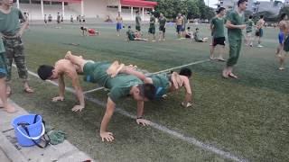 khi bộ đội tập thể lực (parkour- street workout)