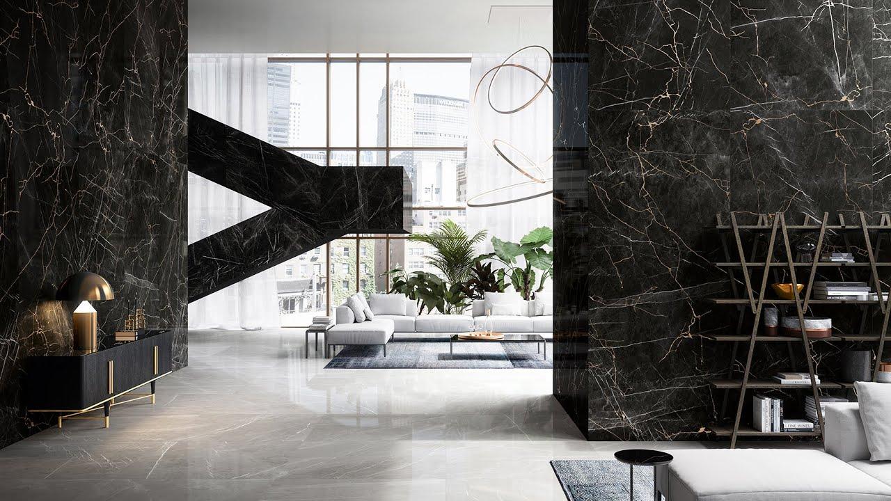 Prestigio - Piastrelle effetto marmo con decoro Craquelè color Oro