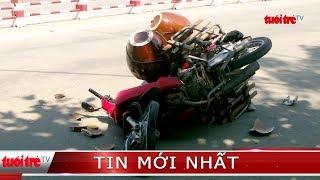 ⚡ Tin mới nhất | Xe khách ôm cua ngược chiều tông 2 xe máy, 1 người nguy kịch