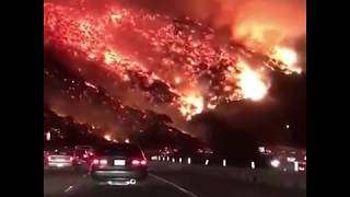 |BREAKING-NEWS| Los Angeles Skirball fire - 6th December 2017 - 405 Freeway