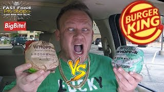 Burger King NEW! ☆IMPOSSIBLE WHOPPER vs WHOPPER☆ Food Review!!!