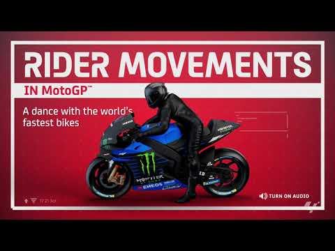 MotoGP™ in 3D: Rider movements on a MotoGP™ machine