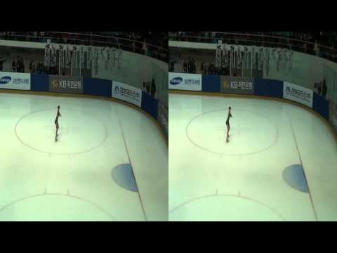 [3D] 2013 KOREA FIGURE SKATING Championships - YuNa Kim - warm up
