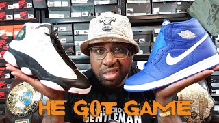 "AIR JORDAN RETRO 1 "" HE GOT GAME"" ""HYPER ROYAL"" EARLY REVIEW!!!"