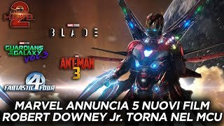 MARVEL annuncia 5 NUOVI FILM. ROBERT DOWNEY Jr. torna in WHAT IF !