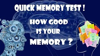 How Good is your Memory ? - Quick Memory Test (EASY) [1080p]