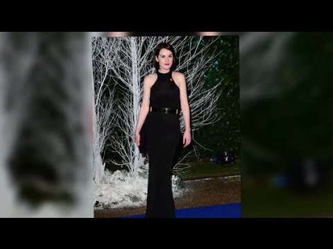 Michelle Dockery Is a Satin Sensation at Kensington Palace Gala