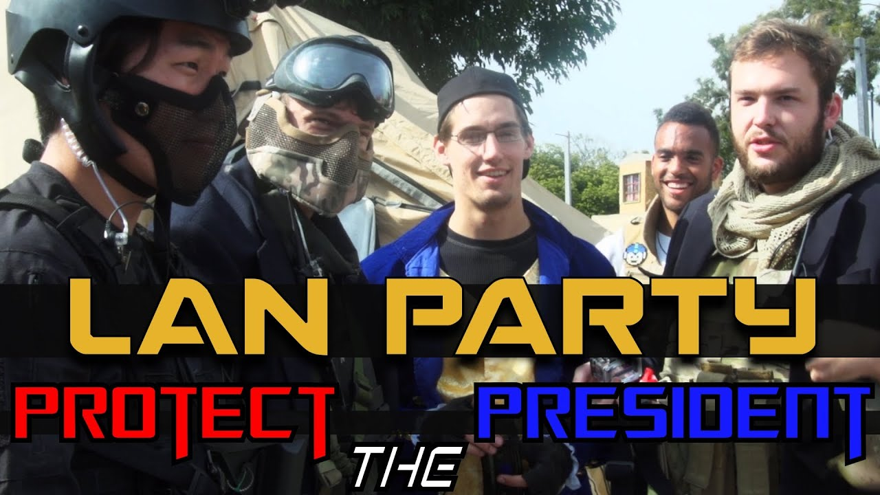 MAN Party: Protect The President Airsoft - NODE - Smashpipe Games Video