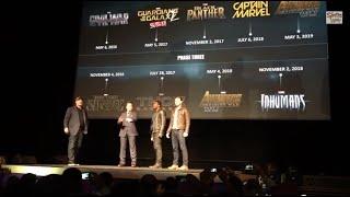 Robert Downey Jr and Chris Evans introduce Chadwick Boseman as Black Panther!
