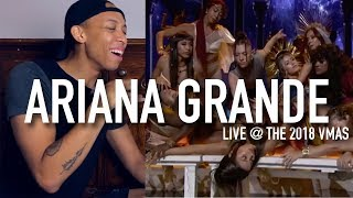 Ariana Grande performing 'God Is A Woman' Live @ The 2018 VMA's | REACTION & REVIEW