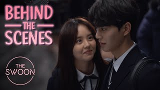 [Behind the Scenes]Kim So-hyun and Song Kang prepare for their first kiss scene |Love Alarm[ENG SUB]