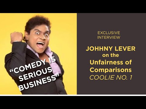 In conversation with the king of comedy, Johnny Lever, for #coolieno1