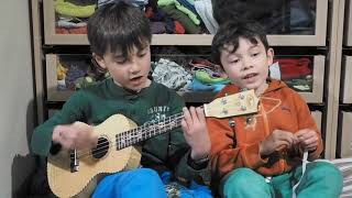 Aiden and toby singing down by the sea