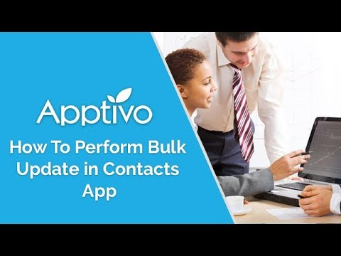 Bulk update contacts records in Contact App