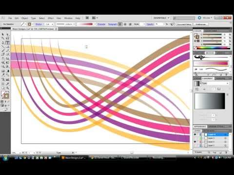 Toturial: How to make a cool looking 'wave' in Adobe Illustrator CS5