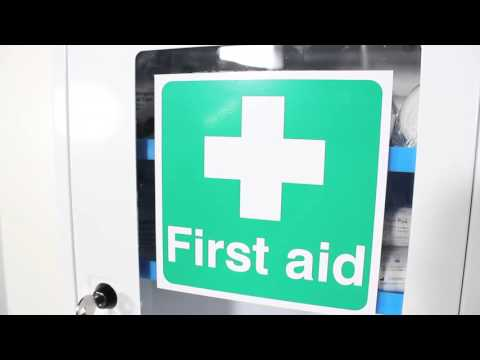 Safety First Aid First Aid Clear Door, Single Depth Cabinet