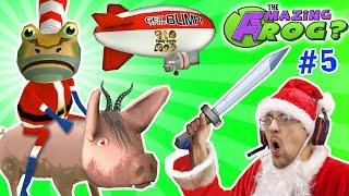 AMAZING FROG SANTA rides DEMON PIG! MERRY FARTING CHRISTMAS! Blimp Crashing - 3x Rollover | Part 5
