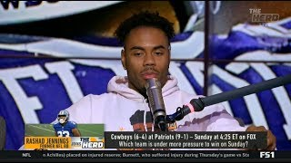 THE HERD | Rashad Jennings on Cowboys vs Patriots; Which team is under more pressure to win?