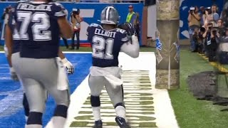 Ezekiel Elliott Funny Celebration After TD Catch | Cowboys vs. Lions | NFL