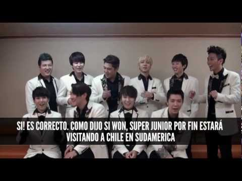 SALUDO OFICIAL SUPER JUNIOR - MUSIC BANK EN CHILE!
