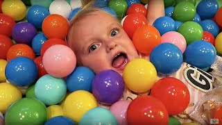 BABY IN A BALL PIT!!!
