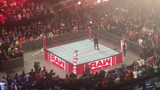Roman Reigns and Brock Lesnar face off before WM 34