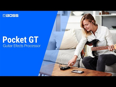 Boss Pocket GT Guitar Processor with features for YouTube learning and everyday playing
