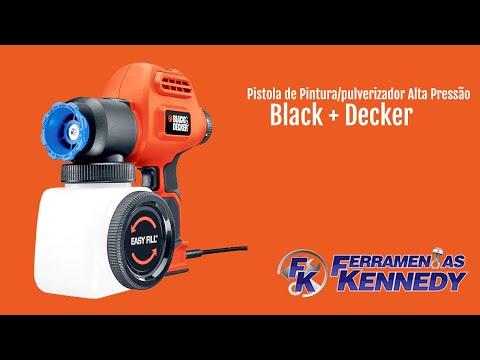 Pistola De Pintura/Pulverizador Alta Pressão Black&Decker - 127V - Vídeo explicativo