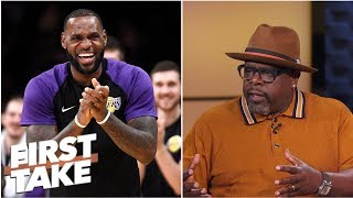 Cedric the Entertainer welcomes LeBron James to L.A.; understands Le'Veon Bell holdout   First Take