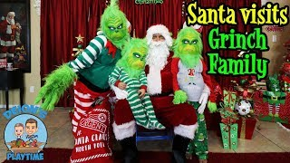 SANTA VISITS GRINCH FAMILY | DEION'S PLAYTIME