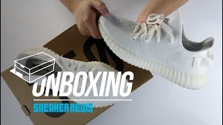 "Unboxing adidas YEEZY 350 ""Triple White"" - 1 million pairs available!?"
