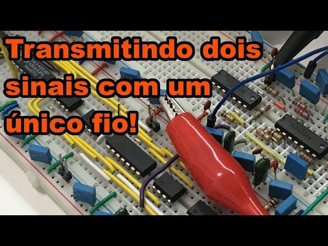 PARECE MÁGICA! TRANSMISSÃO DE DOIS SINAIS COM UM ÚNICO FIO | Conheça Eletrônica! #153