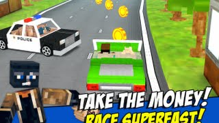 Robber Race Escape - Blocky Police Car Chase Endless Runner GamePlay