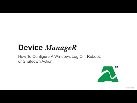 AVTECH Device ManageR: How To Configure A Windows Plugin Bundle Action