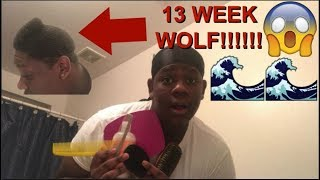HOW TO WASH N STYLE 360 WAVES!!!!!! (MY 3 MONTH WOLF)