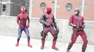 Spider-Man, Daredevil and Deadpool GIF Dance made real