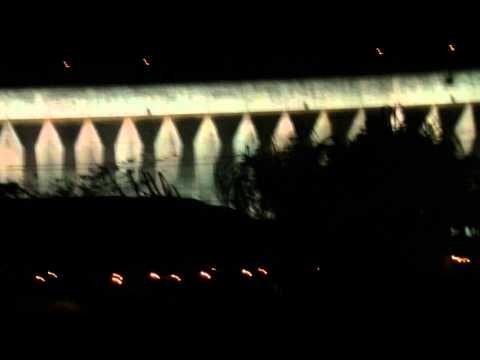 Iluminação da Barragem da Hidroelétrica de Itaipu