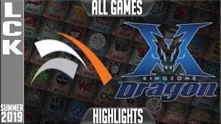 HLE vs KZ Highlights ALL GAMES   LCK Summer 2019 Week 4 Day 3   Hanwha Life Esports vs King-Zone